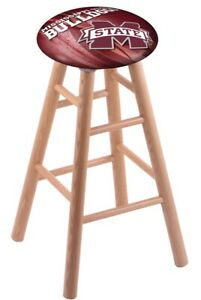 Holland Bar Stool Co. Oak Extra Tall Bar Stool in Natural Finish with Mississ...