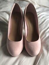 New Look Baby Pink Platform Round Toe High Heel Shoes. Sz 7. Wedding/cruise