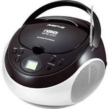 NAXA NPB-252BLK Portable MP3-CD Player with AM-FM Stereo Radio- Black