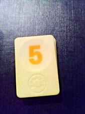 PION RUMMIKUB N° 5 JAUNE D'ORIGINE 4cm X 3cm