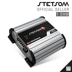 Stetsom EX 3000 1 Ohm Amplifier 3K EQ Compact Car Amp HD Audio - 3 Day Delivery