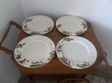"4 Paula Deen Dinner Plate Lot ""Southern Rooster"" Flowers & Chicks 11"" EUC"