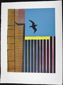 KEN KENAN, Original Serigraph, City Bird Soaring, Signed Numbered