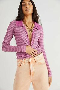 Free People Delilah Top Pink XS Bnwt