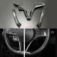 Carbon Fiber For Alfa Romeo Giulia 2017-20 Interior Trim Steering Wheel Cover