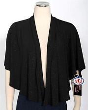 Robbie Bee Black Cape Shrug Jacket Size S Sparkle Women's New *