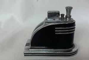 Vintage Ronson Art Metal Works Touch Tip Lighter Streamliner Tortoise Shell