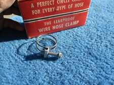"Vintage Wire Band Screw 1"" Hose Clamps NOS Original Box of 15 Made in Chicago"