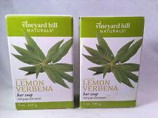 2- Vineyard Hill Naturals Lemon Verbena Bar Soap 5oz Each