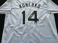 Paul Konerko Signed Autograph Gray Jersey JSA COA White Sox Great