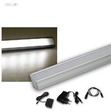 4 Set LED Listello leggero angolare in alluminio bianco freddo + trasformatore