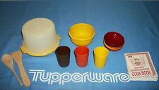 Tupperware Kids Tea Party ~Mini Cake ~Mixing Bowl ~Bowls ~Tumbler ~Wooden Spoon