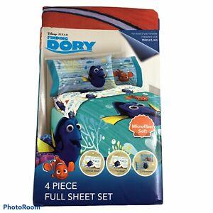 NEW Disney Pixar Finding Dory 3 Piece Full Sheet Set Bedding