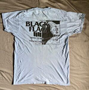 Vintage BLACK FLAG 1983 concert T Shirt MINUTEMEN tour Goldevoice working crew