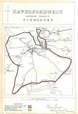 Haverfordwest.Fishguard.1868.Map.Boundary Commissioners report.Antique.Genuine