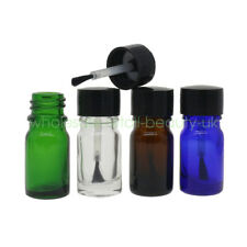 Wholesale 4 Colors Empty 5ml Clear Glass Nail Polish Gel Bottles Container Brush