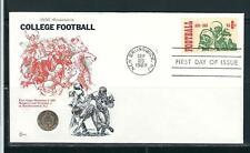 US SC # 1382 Inter Collegiate Football  FDC .  Cachet Craft