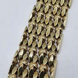 A208# schönes breites Armband G Gold 333 punziert 32,45g