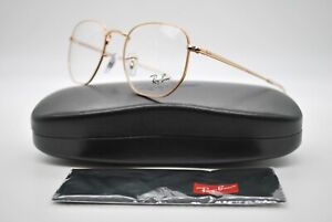 NEW RAY BAN RB 6448 3094 GOLD AUTHENTIC EYEGLASSES FRAMES RX 49-21