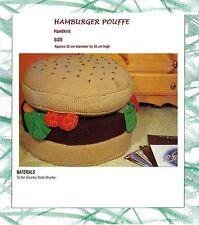 Hamburger (avec chignon et salade) Floor Cushion Toy Knitting Pattern