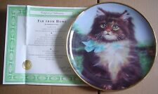 Lovely Franklin Mint Collectors Plate FAR FROM HOME Cat Kitten #2