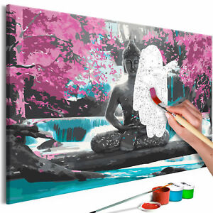Malen nach Zahlen Erwachsene BUDDHA Wandbild 60x40cm Malvorlagen n-A-0722-d-a