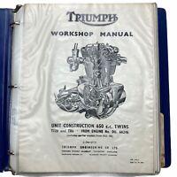 Triumph 650 T120 TR6 Bonneville Tiger Trophy Workshop Manual Book 99-0883