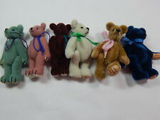 "World of Miniature Bears 2.5"" Plush Bear Lot of 6 Bears #380 Set Collectible"