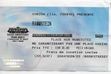 RARE / TICKET BILLET DE CONCERT - RAMMSTEIN : LIVE A PARIS ( FRANCE ) 2005
