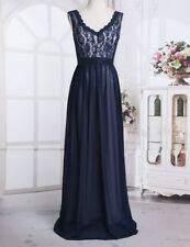 Women Sleeveless V-neck Dress Bridesmaid Evening Gown Party Coctail Maxi Dress
