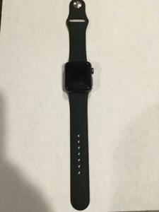 Apple Watch Series 2 38mm Space Gray Aluminum Case Black Sport Band - 38 mm