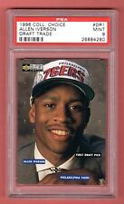 ALLEN IVERSON 1996-97 UPPER DECK COLLECTOR'S CHOICE DRAFT TRADE RC PSA 9 MINT