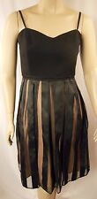 City Chic Black Strappy Pretty Pleat Dress Plus Size XS 14 #n31