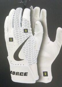 Nike Youth Force Edge Baseball Batting Gloves Large