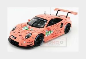 Porsche 911 991 Rsr #92 Win.Lmgte Pro Pink Pig Le Mans 2018 IXO 1:18 LEGT18003 M