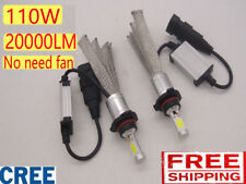 H1 H4 H7 9005 CREE LED Headlight Bulbs Kit 110W 20000LM Light Lamp vs  HID Xenon