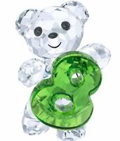 New in box Swarovski Crystal Figurine Kris Bear Number Eight 8 #5108730