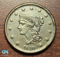 1840 Braided Hair Large Cent --  MAKE US AN OFFER!  #P4813