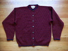 WOOLRICH 100% Wool Button Front Cardigan Warm Sweater Medium