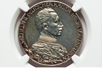 Germany. Wilhelm II Proof 3 Mark 1913-A. NGC PR 62+. Silver Coin.Low Mintag 6000