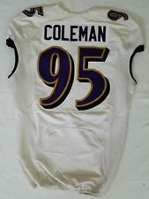 #95 Coleman Authentic Ravens Nike Practice and Player Worn Jersey