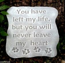 You have left my heart pet memorial mold monument plastic casting  mould