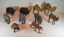 Elastolin / Lineol Masse Figuren Afrika Bison Elefanten Kamele Schildkröte #089