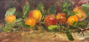 Original oil painting on canvas Oranges and Apples