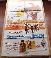 Scandalous John Movie Poster, Original, Folded, One Sheet, year 1971, U.S.A.