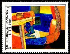 Timbre France Y&T 2413 Neuf** - Skibet - Maurice Estève - 1986