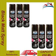 6 X 250ML Auto Extreme Black Matt Spray Paint Car DIY Auto Interior Exterior Can