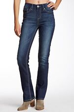 NEW Seven7 Women's Size 3 Dark Rinse Monogram Jeans High Rise Slim Boot-Cut Pant