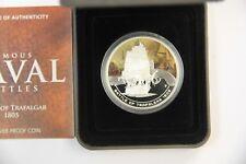 Cook Islands 2011 $1 Famous Naval Battles - Trafalgar 1 Oz Silver Proof Coin