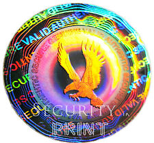 300 VALID AUTHENTIC Eagle Hologram Security stickers labels 25mm C25-1S